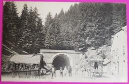 Cpa 39 Bussang Le Tunnel Carte Postale Vosges Belle Animation Non Ecrite - Col De Bussang