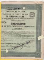 Obligations RUSSE 4% De 1910 Du Chemin De Fer De  VOLGA-BOUGOULMA, De 500 Francs, Avec 3 Coupons, Bon état, Voir Scans. - Chemin De Fer & Tramway