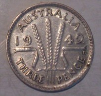 Australia 3 Pence 1942 D - Threepence