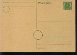 Rarität Ganzsache Postkarte 6 Pfennig Druckerei Nr.2 Lateinische Buchstaben Schreiben - Briefe U. Dokumente