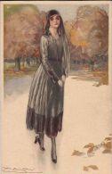 FASHION MODA DONNA  PRETTY WOMAN 1930 ILLUSTRATORE MAUZAN LUCIEN ACHILLE - Mauzan, L.A.