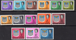 Northern Rhodesia & Nyasaland 1963 Arms Definitive Set Of 14, MNH - Northern Rhodesia (...-1963)