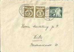 Brief Luxemburg - Wilz ( Wiltz ) Besatzung Deutsches Reich WWII 1943 - Besetzungen