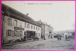 Cpa Anould Place De La Mairie Carte Postale Vosges 88 Auberge Ferry Commerce - Anould
