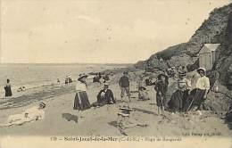 Dept Div-cotes D Armor -ref Z230-saint Jacut De La Mer -st Jacut De La Mer -plage Des Rougerais  -carte Bon Etat   - - Saint-Jacut-de-la-Mer