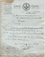 Lettre Du Maire De Châtellerault, 16 Prairial An 13 - Historical Documents