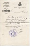 Certificat Du Maire De La Maisondieu Pour Un Boulanger, 11/11/1942 - Historical Documents