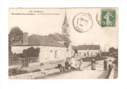 CPA : 18 - Marseilles Les Aubigny : La Mairie - L'Ecole & L'Eglise - Animation - Other Municipalities