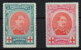 Belgica, Belgique, Belgium Yvert 132/3* VC 45,00€ - 1910-1911 Caritas