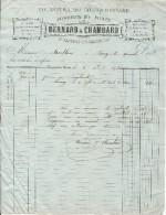 VIEILLE FACTURE FONDERIE FONTE BERNARD & CHAMBARD SAINT LAURENT LES MACON 1875 - Invoices & Commercial Documents