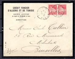 Lettre D'Alger Vers Bruxelles, Mosquée De La Pêcherie, Yvert  N° 49 - Algeria (1924-1962)