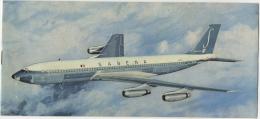 Publicité Sabena. Tarif Bruxelles/New York/Montreal/Mexico City. 1963. - Publicités