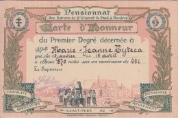 Pensionnat Des Soeurs De St Vincent De Paul A Roulers Carte D´Honneur      Scan 10209 - Diploma's En Schoolrapporten