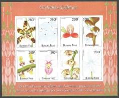 Burkina Faso 2000 African Orchids Michel 1710-1717 Mint Unperforated Sheetlet - Burkina Faso (1984-...)
