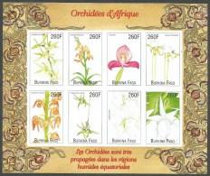 Burkina Faso 2000 African Orchids Michel 1718-1725 Mint Unperforated Sheetlet - Burkina Faso (1984-...)