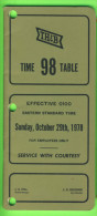 HORAIRES, TIME TABLES - THE TORONTO HAMILTON & BUFFALO RY. C. No 98, OCTOBER 1978 - 72 PAGES - - World