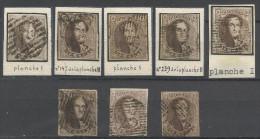 Belgique - Médaillon N°10 - Collection De 8 Timbres Margés + Voisins - Planchés Et/ou Positionnés - 2 Scan