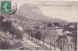 Cpa,grenoble,la Tronche ,ile Verte,prés Meylan,route Ancienne,édition Gaude,rare,isère - La Tronche