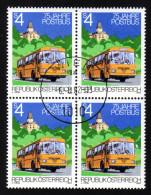 ÖSTERREICH 1982 - 75 Jahre Postbus - 4er Block Erstag-Stempel - Post