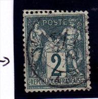 France, Sage De Type 2, 2c,  N°74 Oblitération Càd  ( 15/Sage 036) - 1876-1898 Sage (Tipo II)