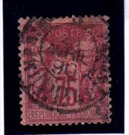 France, Sage De Type 2, 75c,  N°81  Oblitération,Imprimés, Paris( 15/Sage 054) - 1876-1898 Sage (Type II)