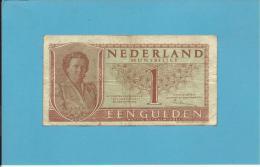 NETHERLANDS - 1 GULDEN - 08.08.1949 - Pick 72 - Queen Juliana - 2 Scans - [2] 1815-… : Koninkrijk Der Verenigde Nederlanden
