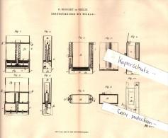 Original Patent - H. Bernert In Berlin , 1882 , Streichholzschachtel Mit Stempel , Streichhölzer !!! - Zündholzschachteln