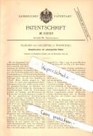 Original Patentschrift - Florian Von Grubinski In Warschau , 1897 , Dampfmaschine Mit Schwingendem Kolben !!! - Schiffe