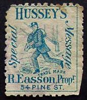 USA, Scott 87L67, Hussey's Post, Genuine Stamp - Poste Locali