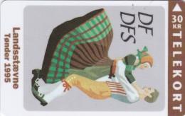 Denmark, TS 028, Toender Folk Danceill, Mint 30 Kr, Only 3.000 Issued, 2 Scans. - Denmark