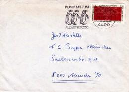 A00030 - Enveloppe Allemagne - Flamme Pingouins - Pingouins & Manchots