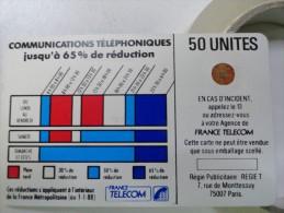 RARE : CORDONS BLEU 50U SC4OR FOND BLANC NR 7879 AU MILIEU DES PLAGES HORAIRES - France