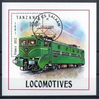 C009 TRANSPORT TREINEN TRAINS ZUGE EISENBAHN LOCOMOTIVES TANZANIA 1991 Gebr / Used - Trains