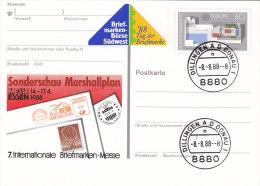 BRD PSo 16 Mit Stempel: 8880 Dillingen Donau 8.8.88, Schnapszahl, Vinette SÜDWEST ´88 Tag Der Briefmarke - BRD