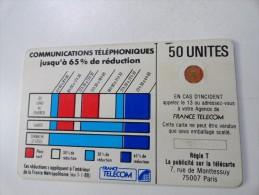 RARE : CORDONS BLANC 50U SC4OB TRAIT BLANC SUR PLAGE HORAIRE COURONNE SEMI ÉVIDÉE NR 611252 - Frankrijk