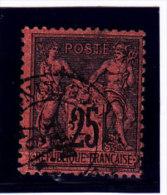 France, Sage De Type 2, 25c, N° 91a,  Oblitération Càd ;  (15/Sage 109) - 1876-1898 Sage (Type II)