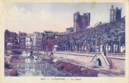 Narbonne - Le Canal - Carte A.D.I.A. Colorée - Narbonne