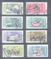 MONGOLIA COMPLETE SET YVERT NRS.  197-201 ET POSTE AERIENNE 1-3 AÑO 1961 SERIE COMPLETA 40 ANNIVERSAIRE DE L'INDEPENDANC - Mongolië