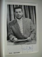 N° 188 - AUTOGRAPHE SUR PHOTO 10x15cm DE JEAN QUITARD 1908/1956 REPORTER SPORTIF TV - PUB TELE FRANCE AU VERSO - Autographes