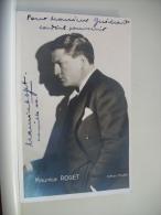 N° 193 - AUTOGRAPHE SUR CARTE PHOTO 9x14cm DE MAURICE ROGET - STUDIO INTRAN - 1944 - ARTISTE A IDENTIFIER - Autographes