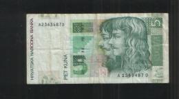 CROATIA 5 Kuna 2001 - Croatia