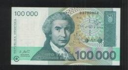 CROATIA 100 000 Hrvatskih Dinara 100000 1993 - Croatia