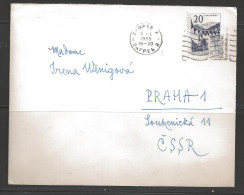 Yogoslavia 1955 Zagrab To Praha Czechoslovakia - 1945-1992 Socialist Federal Republic Of Yugoslavia