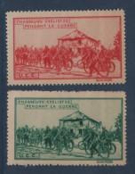 Chasseurs Cyclistes - Pendant La Guerre - Commemorative Labels