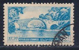 Lebanon, Scott # 240 Used Dog River Bridge, 1950 - Lebanon