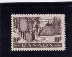 Canada, 1950, # 301,  MNH,  FUR RESOURCES: DRYING SKINS - 1937-1952 Règne De George VI