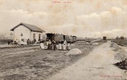 77 CPA CHEVRU LA GARE TRAIN TRAMWAY EDITION PASTANT N°6 - France