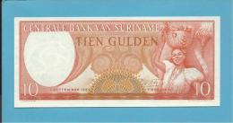 SURINAM - 10 GULDEN - 01.09.1963 - Pick 121 - UNC. - Wmk. Toucan's Head - 2 Scans - Surinam