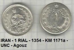IRAN - 1 RIAL - 1354 - KM 1171a - UNC - Agouz - Iran