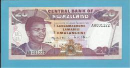SWAZILAND - 20 EMALANGENI - 01.04.1998 - Pick 25.c - UNC. - Sign. 4 - 2 Scans - Swaziland